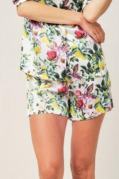 Alexandra Pyjama in Amalfi Lemon - Short - Pyjama Shorts | RADICE