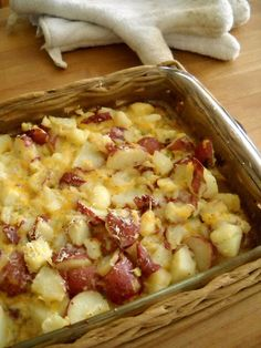 Mom's Cheesy Potatoes    Easy, delicious, and oh so cheesy