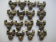 4 Vintage Ethiopian silver Telsum beads old by xclusivedsgns (Craft Supplies & Tools, Jewelry & Beading Supplies, Beads, Telsum beads, Ethiopian beads, ethnic beads, African beads, Telsum, silver beads, handmade beads, Ethiopia, African jewelry, Ethiopian jewelry, rustic, findings, supplies)