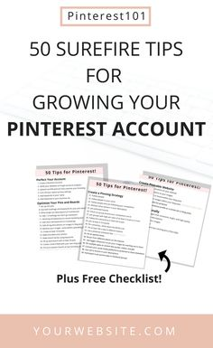 50+ Smart Pinterest tips and marketing Strategies to grow! Learn all of the pinterest marketing strategies that has helped me get over 1 million views on my pinterest account plus grow my traffic and following!  Make sure to grab the checklist for easy step by step list of every thing I mentioned!  #pinterest #pinterestmarketing #socialmediamarketing