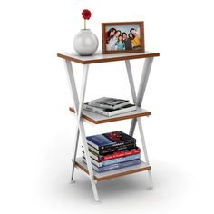 Genius Shelving 3-tier White Accent Table | Overstock.com Shopping - The Best Deals on Coffee, Sofa & End Tables