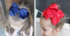 "Our 5"" Hair bows are made from the highest quality grosgrain ribbon and carefully mounted on alligator clips."