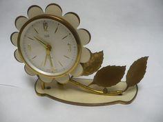 Reserved Rayh Vintage Clock Elgin Alarm by DynochicksTreasures
