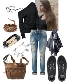 Hipster fashion geek specks,converse,over the shoulder bag,checked or striped scarf,skinny jens,accessories glore,anything with an owl & a star,needs a fadora?