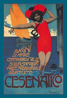 Cesenatico (Woman in Red)