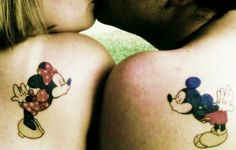 Micky Mouse Shoulder Tattoos