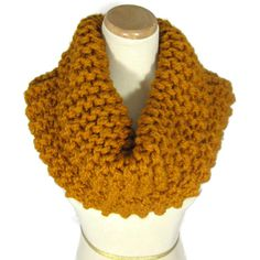 Outlander Inspired, Knit Scarf, Butterscotch Cowl, Mustard, Gold,... ($45) ❤ liked on Polyvore featuring accessories, scarves, gold, loop scarf, gold shawl, chunky infinity scarf, hand knit shawl and gold infinity scarf