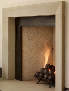 Whitewash Fireplace Awesome contemporary fireplace with tv above.Limestone Fireplace Built Ins double sided fireplace galleries. Fireplace Hearth Tiles, Metal Fireplace, Farmhouse Fireplace, Home Fireplace, Marble Fireplaces, Fireplace Remodel, Fireplace Surrounds, Fireplace Design, Fireplace Mantels