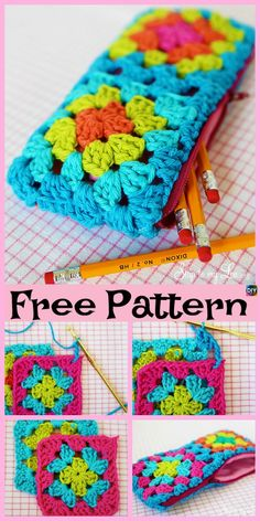eight Cutest Crocheted Pencil Case – Free Patterns Crochet Fish, Crochet Yarn, Free Crochet, Crochet Pencil Case, Pencil Case Pattern, Crochet Owl Basket, Unicorn Pencil Case, Crochet Phone Cover, Knitting Patterns
