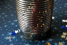 Upcycled Hannukah Craft: Tin Can Luminaries
