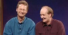 Ryan Stiles and Colin Mochrie, these guys are so funny! Christian Love, Christian Humor, Christian Faith, Lutheran Humor, Ryan Stiles, Colin Mochrie, Religious Jokes, Funny Church Signs, Whose Line
