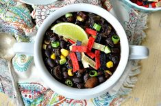 """""""This Southwestern Black Bean Soup is a hearty and filling comfort food dish that will please even the most die-hard meat-lovers!"""