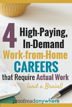 WOW! This is the post I've been waiting for!! FINALLY someone tells it like it is. I am so tired of people saying working at home is mindless or easy. I want -- NEED -- a challenge. Going to look into these for sure!! High Paying Careers, Good Paying Jobs, Extra Money, Extra Cash, At Home Careers, Online Careers, Online Jobs, Hobbies Creative, Cheap Hobbies