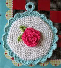 Made by Cute Stuff Inside - Crochet - Potholders - Lily Sugar 'N Cream