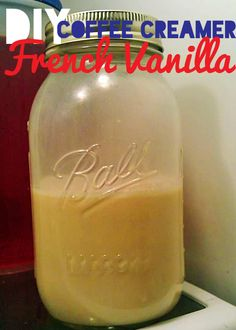DIY French Vanilla Coffee Creamer
