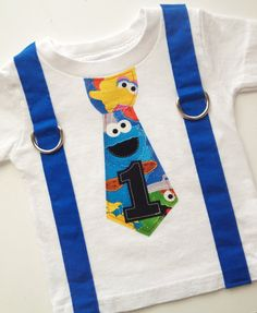READY TO SHIP Size 12M Sesame Street by TheBaerEssentials on Etsy