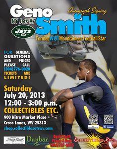 Geno Smith Mountaineers Football, Jets Football, Geno Smith, West Virginia University, Marketing