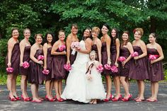 12 BM Large Bridal Parties, Bridesmaid Dresses, Wedding Dresses, Party, Fashion, Bridesmade Dresses, Bride Dresses, Moda, Bridal Gowns