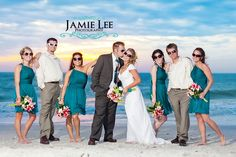 Sunglasses bridal party on the beach Florida. i mainly repinned this because i love the colors!