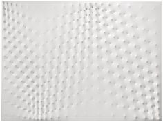 """Enrico Castellani [Italy] (b 1930) ~ """"White Surface"""", 1980. Acrylic on shaped canvas (150 x 200 cm). 