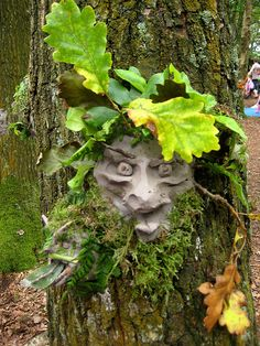 Tree scultuptures. Use clay to create a sculpture attached to a tree. Have the kids hunt for leaves/twigs/grass (natural items) to add to the sculpture.