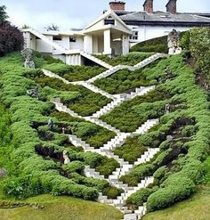 The Garden of Cosmic Speculation, Scotland. The deepest stair well in the world. Most Beautiful Gardens, World's Most Beautiful, Beautiful Homes, Beautiful Places, Beautiful Pictures, Garden Of Cosmic Speculation, Stair Well, Gardens Of The World, Famous Gardens