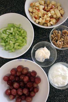 Ensalada Waldorf Waldorf Salad, Detox Salad, Deli, Salads, Food And Drink, Appetizers, Fruit, Cooking, Recipes