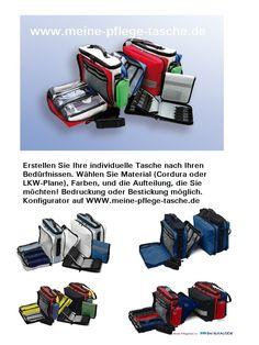 Ganz einfach eine individuelle Tasche selber konfigurieren. Sie designen - wir nähen.