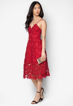 Premium Lace Midi Dress