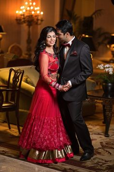 Long red anarkali