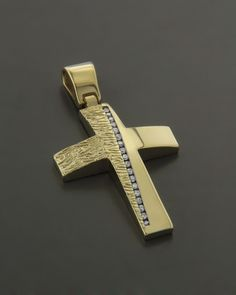 Σταυρός βαπτιστικός χρυσός Κ14 με Ζιργκόν Jewelry Rings, Jewelery, Flower Of Life, Cross Pendant, Background Images, Diamond Rings, Cufflinks, Charms, Pendants