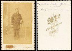 Retrat d' Antonio Castro y Wilson, 3er oficial. Compañía Trasatlántica Española. 1891. Foto: M. Pol.  Donació: M. Brull Gonzalez. MMB 72683F Cadiz, Pictures