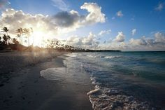 Sunset at beach of Punta Cana, Dominican Republic