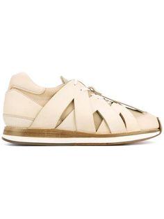 HENDER SCHEME criss cross effect sneakers. #henderscheme #shoes #sneakers