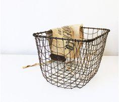 love a vintage basket - great for storage or planting!