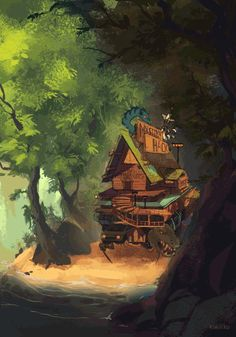 Grunkle Stan's moving Mystery Shack from the finale.More specifically now Soos' Mystery Shack