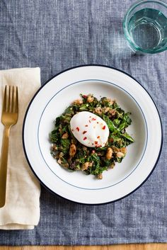 Recipe: Crispy White Beans With Greens and Poached Egg | Kitchn