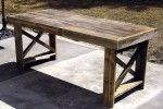 Three Discarded Shipping Pallets Get a New Lease on Life as a Dining Table