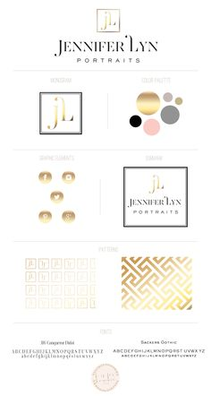 logo + brand design for Jennifer Lyn Portraits | b is for bonnie design