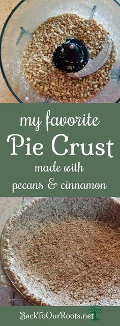 Pie Crust Made from Pecans