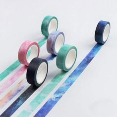 1 x 10m Roll Adhesive Craft Washi Tape 15mm Weather Record