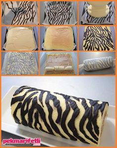 Zebra desenli rulo pasta nasıl yapılır? | Mutfak | Pek Marifetli!
