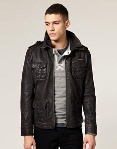 Asos: Superdry Brad Leather Jacket