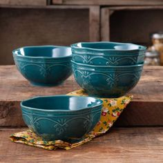 The Pioneer Woman Farmhouse Lace Bowl Set, 4-Pack - Walmart.com