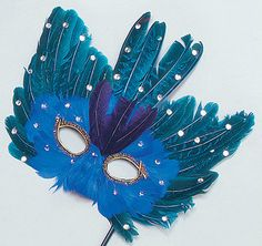blue peacock mask £3.99