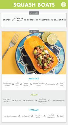 5. Squash Boats http://greatist.com/eat/easy-recipe-formulas