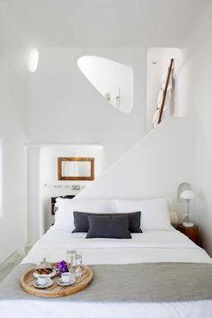 Love this bedroom bathroom combo - Native Eco Villa - Santorini