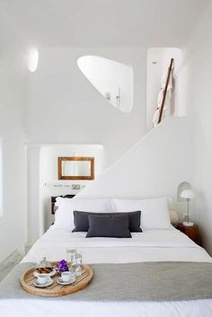 Love this bedroom bathroom combo - Native Eco Villa - Santorini