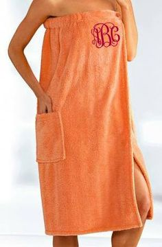Monogrammed Towel Wrap. Waffle Spa Wrap. Bridesmaid Towel Wrap Embroidery Towel Wrap. Personalized Gift. Bath Towel Wrap.  Graduation Gift. Bath Linens, Bath Towels, Monogram Towels, Towel Wrap, Sewing Hacks, Sewing Tips, Recycle Plastic Bottles, Handmade Clothes, Diy Fashion