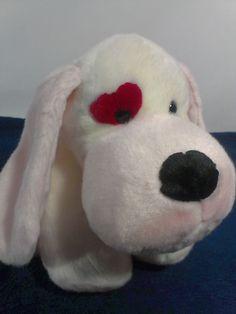 "Russ Berrie CYRANO Red Eye Floppy Puppy DOG Bean Bag Stuffed Plush Toy 13""  #RussBerrie"